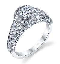 1.75 Carat Halo Diamond Ring