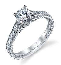 1 CT TW Round Cut Diamond Ring