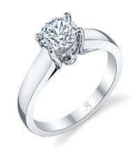 1 CT Solitaire Diamond Engagement Ring