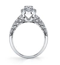 Single Halo Diamond Engagement Ring