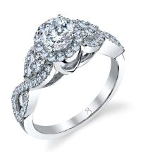 1.25 Carat Criss-Cross Diamond Ring